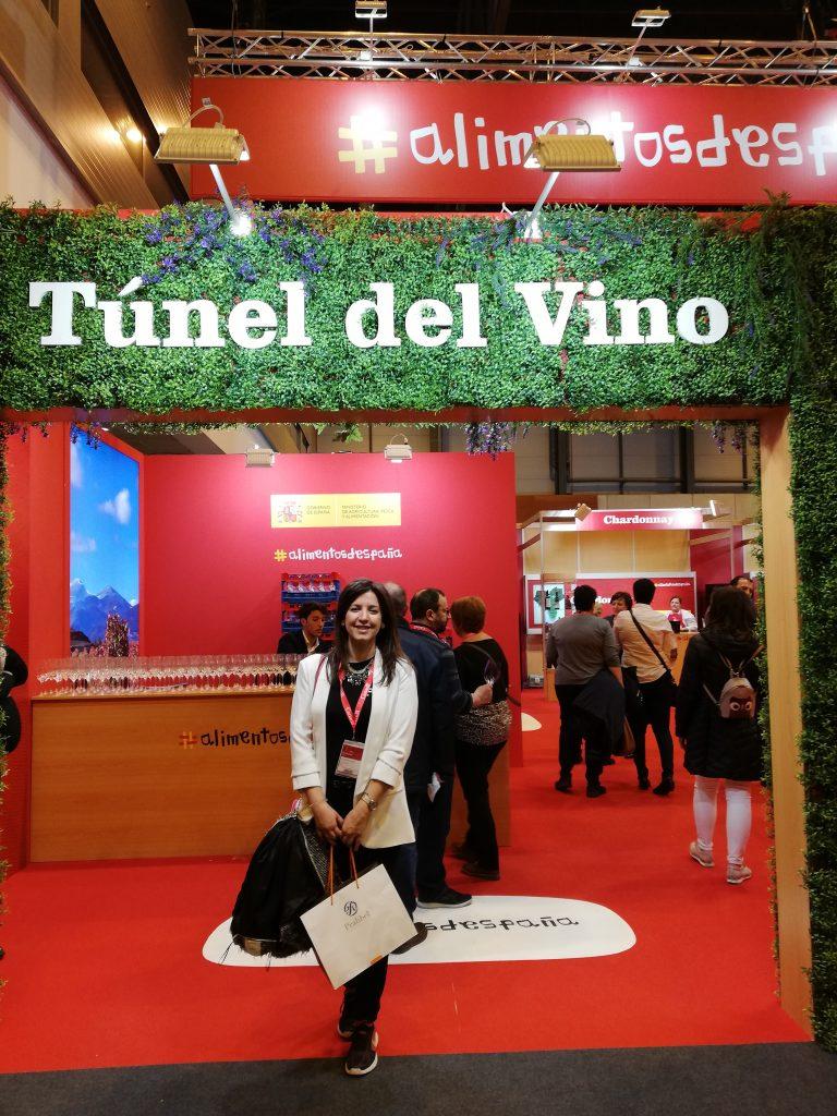 Túnel del vino en el salón gourmet