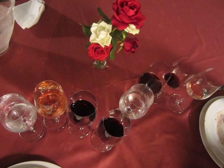 Copas con vino Pago Arínzano