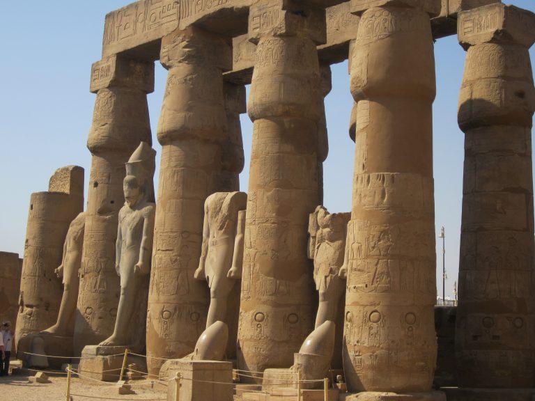 El Templo de luxor, en Egipto