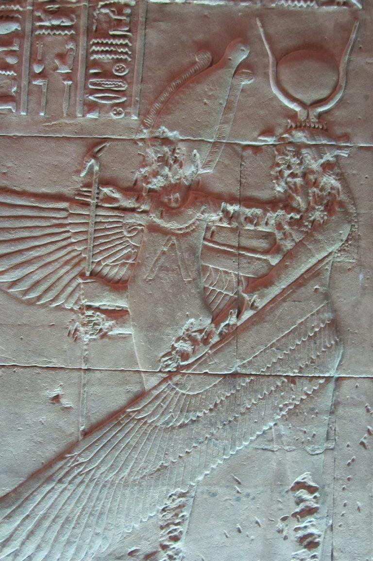 Isis reviviendo a Osiris