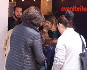 Registro de visitantes en Eventbrite