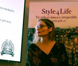 Silvia Segovia durante la ponencia