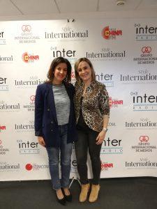 Con Rosa García Caro, de Radio Inter