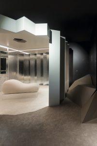 Dormitorio futurista desde donde observar la tierra y el cosmos
