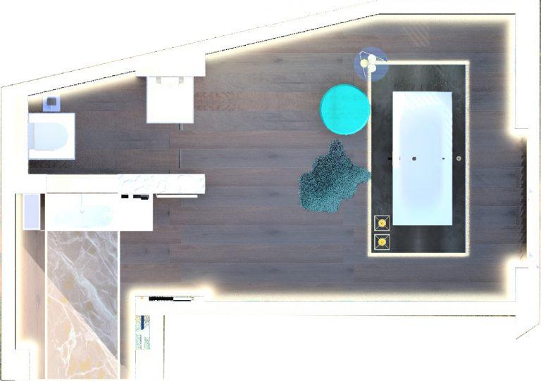Plano del espacio Geberit en CasaDecor 2020