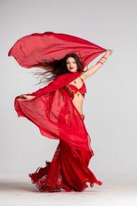 Bailarina de danza del vientre