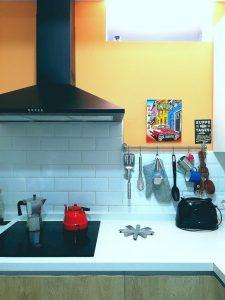 Cocina con pinceladas de color