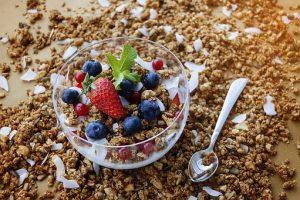 Granola en el desayuno
