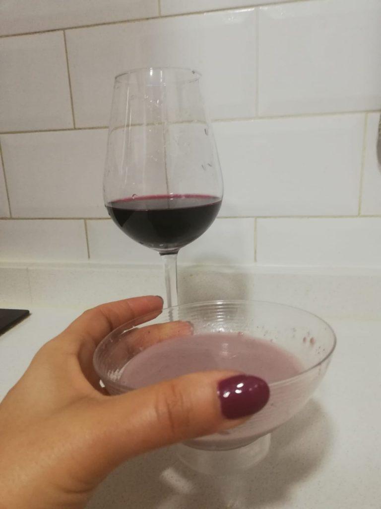 Mascarilla de vino