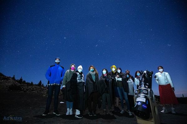 Observación nocturna de los astros