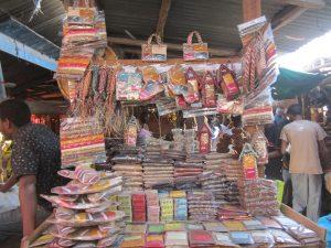 Tienda de especias en Zanzíbar