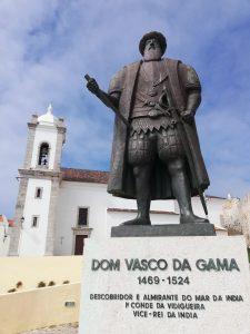 Estatua de Vasco de Gama en Sines