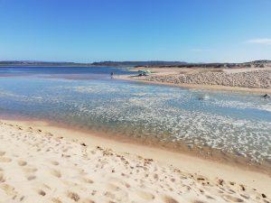 La Lagoa de Santo André, abierta al mar